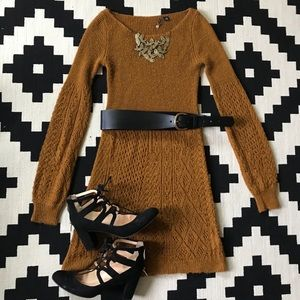 Knitted and knotted Soft Sweater Dress